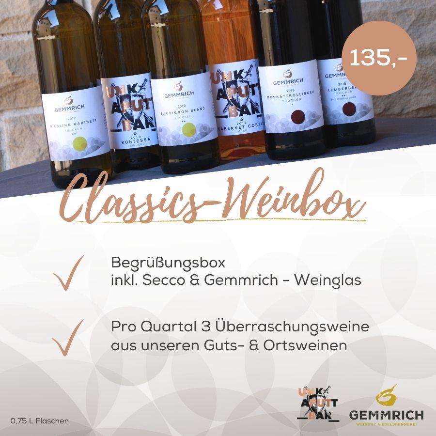 Classics Weinabo Box | Weingut und Edelbrennerei Gemmrich