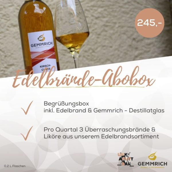 Edelbrände Abobox  Weingut und Edelbrennerei Gemmrich