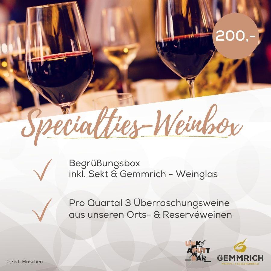 Spcialties-Weinbox | Weingut und Edelbrennerei Gemmrich